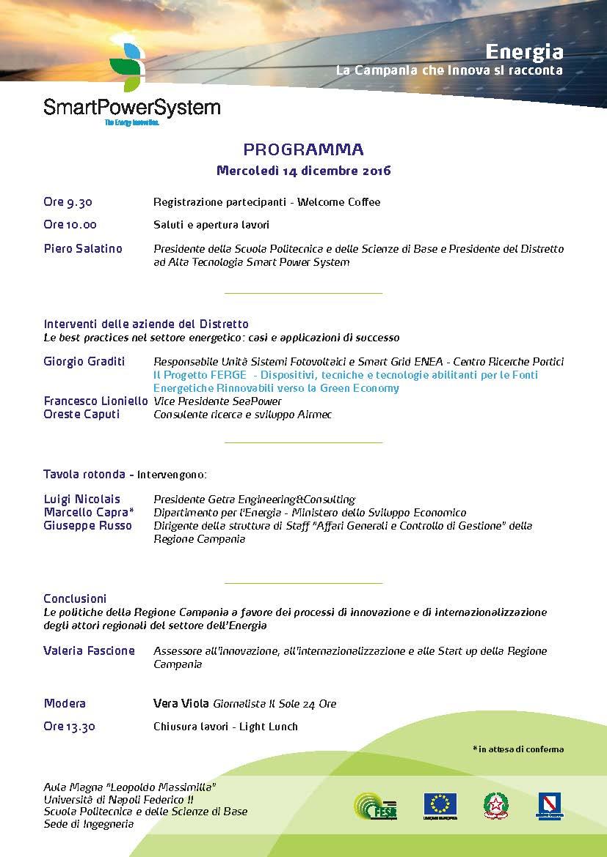 Programma Evento SPS